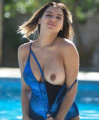 Lacey Banghard Whips Of Her Boobs